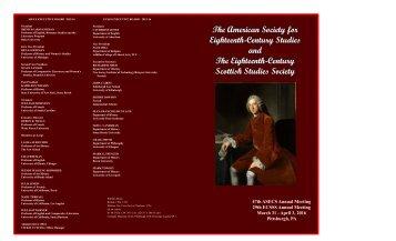 Eighteenth-Century Studies and The Eighteenth-Century Scottish Studies Society