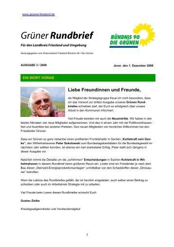 Grüner Rundbrief - der Grünen Friesland