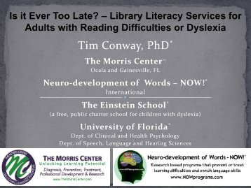 Tim Conway PhD