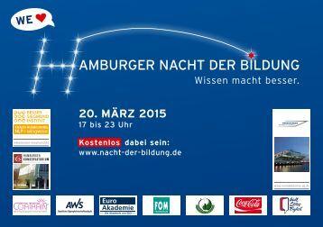 Schülerbroschüre Hamburger Nacht der Bildung 2015
