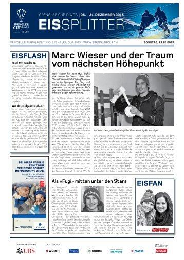 Spengler Cup Gazette EISSPLITTER 27.12.15