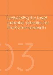 Unleashing the trade potential priorities for the Commonwealth