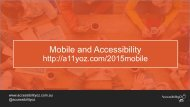 Mobile and Accessibility