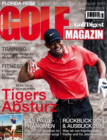 Golf Magazin Januar 2016