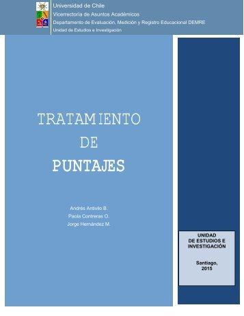 TRATAMIENTO DE PUNTAJES