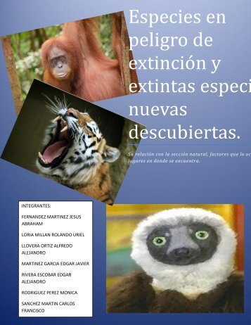 Especies-en-peligro-de-extinción-y-extintas-especies-nuevas-descubiertas