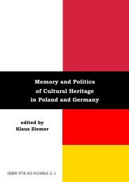 Memory and Politics of Cultural Heritage in Poland and Germany