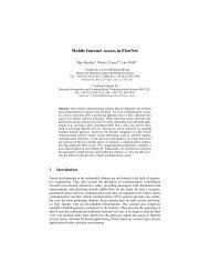 Mobile Internet Access in FleetNet - Institut für Betriebssysteme und ...