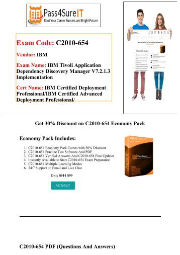 Pass4sure  C2010-654 exam Preparation Material For Best Results