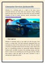 Limousine Services Jacksonville