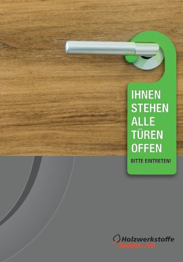 Die wichtigsten Details - Holzwerkstoffe Reiden AG