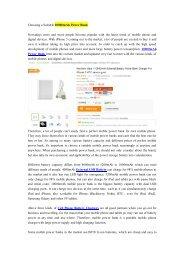 Choosing a Suitable 10000mAh Power Bank-newnow.com