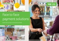 Face to face payment solutions