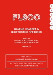 GAMING HEADSET & BLUETOOTH® SPEAKERS