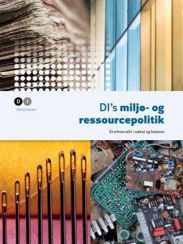 DI's miljø- og ressourcepolitik
