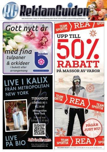 ReklamGuiden Kalix v53 -15 (28/12-3/1)