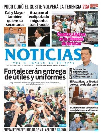Noticias Voz E Imagen de Chiapas - Edición 28 de Diciembre de 2015