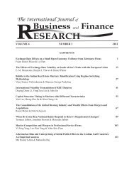 ijbfr v6(3) 2012 - The Institute for Business and Finance Research ...