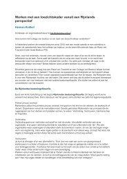 Werken met een toezichtskader vanuit een Rijnlands perspectief