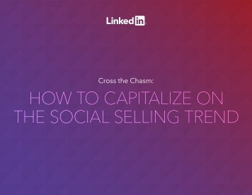 HOW TO CAPITALIZE ON THE SOCIAL SELLING TREND