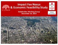 Impact Fee Nexus & Economic Feasibility Study