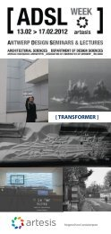adsl 2012 lectures - Christian Kieckens Architects
