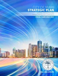 CITY OF MIAMI STRATEGIC PLAN