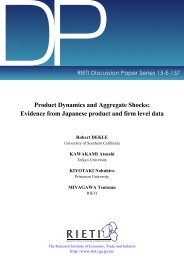 Evidence from Japanese product and firm level data