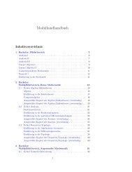 Modulhandbuch - Mathematik - Heinrich-Heine-Universität Düsseldorf