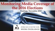 Monitoring Media Coverage of the 2016 Elections