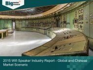 2015 Wifi Speaker Industry Report - Global and Chinese Market Overview