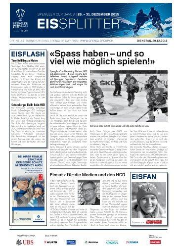 Spengler Cup Gazette EISSPLITTER 29.12.15