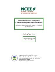 A Stated Preference Study of the Chesapeake Bay and Watershed Lakes