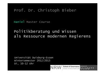 Das Programm - NRW School of Governance