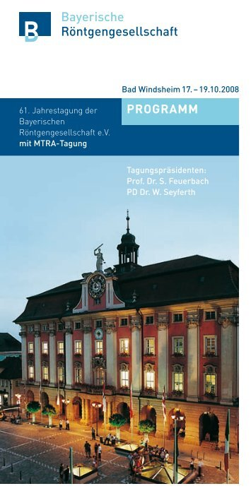 Programm 2008 - Bayerische Röntgengesellschaft