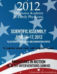To register online visit: oafp.register110.com - Oklahoma Academy ...