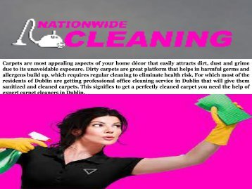Reliable and High Quality Office Cleaning Service in Dublin