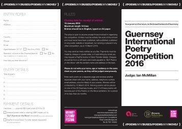 Guernsey International Poetry Competition 2016