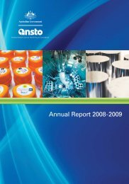 Annual Report 2008-2009 - ANSTO Publications Online