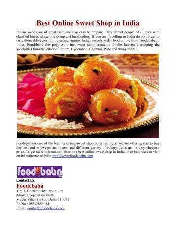 Best Online Sweet Shop in India