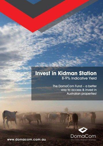 Invest in Kidman Station
