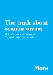 The truth about regular giving