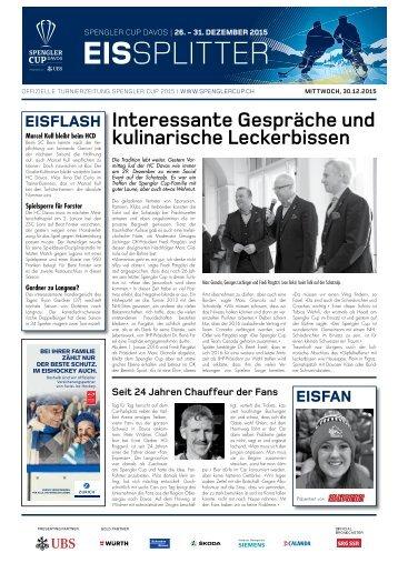 Spengler Cup Gazette EISSPLITTER 30.12.15