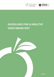 GUIDELINES FOR A HEALTHY VEGETARIAN DIET