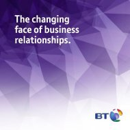The changing face of business relationships