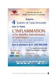4ème Journée de l'Auto-Immunité 8 novembre 2014 Livret des  Résumés des interventions AMMAIS