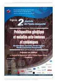 2ème Journée de l'auto-immunité 24 novembre 2012 Livret des résumés des interventions AMMAIS