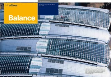 Sustainability report Balance 2006 - Verantwortung in der Lufthansa