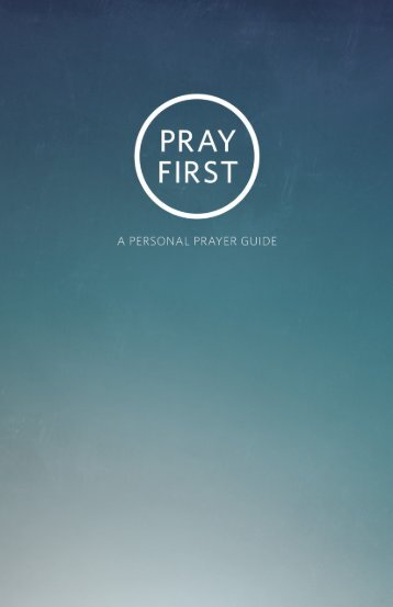 Prayer Guide 1