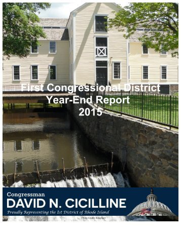 First Congressional District Year-End Report 2015